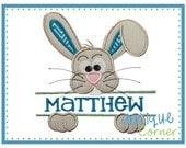 INSTANT DOWNLOAD Bunny Split Easter applique design in digital format for embroidery machine by Applique Corner