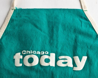 Vintage Chicago Today newspaper apron – vintage coin apron – vintage newspapers - typography