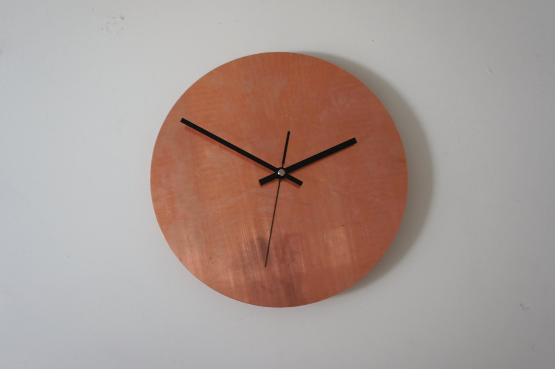 copper raw wall clock. Black Bedroom Furniture Sets. Home Design Ideas