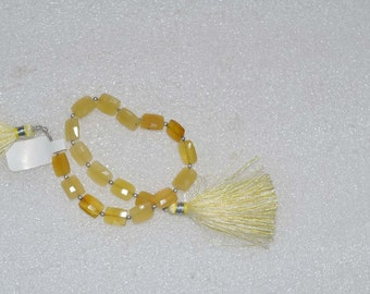 Natural AAA Quality Yellow opal 7x10 to 8x11mm Faceted Chicklet Gemstone Beads 8 Inches TS013