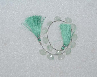 Natural AAA Quality Green Quartz 11 to 13mm Faceted heart Gemstone Beads 8 Inches TS015