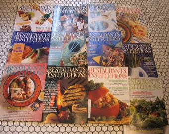 13 food pictures history Restaurants & Institutions magazines clip art vintage 1990s
