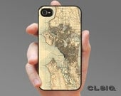 Vintage Seattle Map iPhone Case for iPhone 6, iPhone 6Plus, iPhone 5/5s, iPhone 5c, iPhone 4/4s, Samsung Galaxy S5, Galaxy S4, Galaxy S3