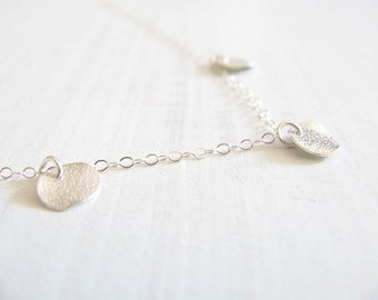 Silver disc necklace, silver necklace, bridal necklace, delicate necklace silver, sterling silver 925