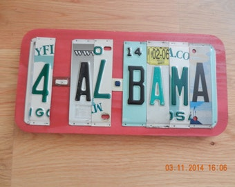 For Alabama (4 Al Bama) License Plate Sign (Made to order)