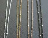 Layering necklace, Satellite chain, Dainty Beaded Satellite Chain, Short Sterling Silver or 14k Gold Fill Chain