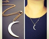 Crescent Moon and Star Necklace, Mixed Metal Necklace, 14K Goldfilled and Silver i Love you to the moon and back Necklace. Happy valentines