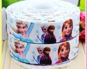 1.5'' 50 yards Free shipping FROZEN printed grosgrain ribbon hairbow party decoration diy wholesale OEM 38mm