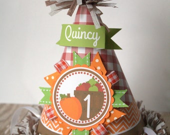 Apple Harvest Party Hat, Harvest Birthday Party Hat