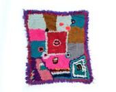 vintage moroccan boucherouite rug art