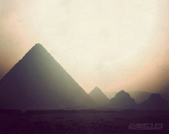 Travel photography, Egypt photograph, fine art print, exotic, dreamy, pyramid, archaeology, Egyptian decor - Giza