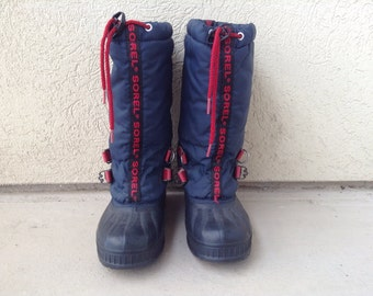 Vtg Retro 80s 90s WOMENS SOREL WINTER Snow boots 6.5