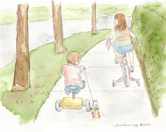 Girls on Bicycles - Pixie Vignette