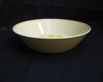 MIKASA CHECKMATES Yellow Butternut Round Vegetable Serving Dish Bowl