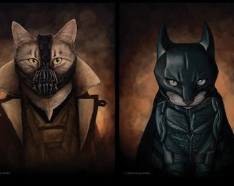 "Bat Cat and Bane 8.5""x11"" Print"