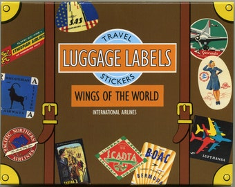 LUGGAGE LABELS, Travel Stickers, Airline Luggage Labels, Luggage Stickers, Vintage Travel Stickers, Airline Stickers, Vintage Luggage
