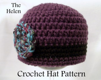 Crochet PATTERN Baby Hat PATTERN The Flapper Hat Cloche Hat Pattern Crochet Pattern Baby Hat Pattern Crochet Cloche Pattern