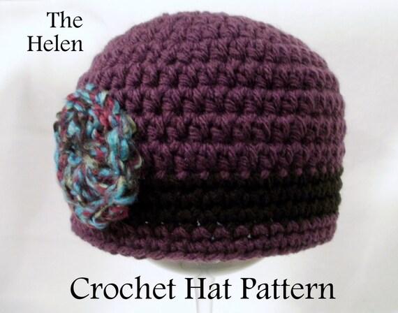 Crochet PATTERN Baby Hat PATTERN The Flapper Hat Cloche Hat