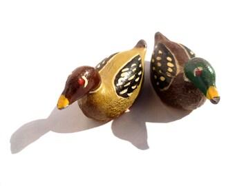 Vintage Lead Ducks/ Set of 2