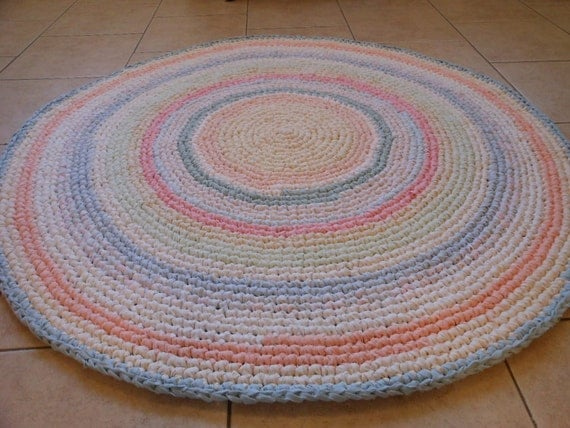 Crocheting Round Rugs : Custom Made Rugs! Crochet Rug, Round Rug, Rag Rug, Area Rug, Vintage ...