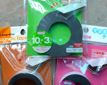 A Roll of Wide Self-Adhesive  Magnetic  Magnet Stripe Tape (30mm x 1m; 20mm x 1.5m; or 10mm x 3m)