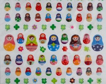 Japanese Sticker- Matryoshka Dolls