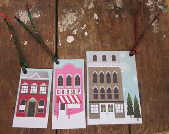 Holiday Village Gift Tags - B2G1 - Buy 2 Get 1 Free