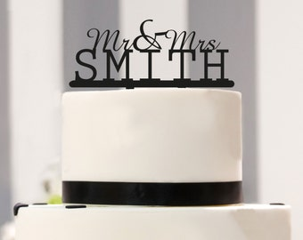 Cake Topper Mr. & Mrs. to the Wedding