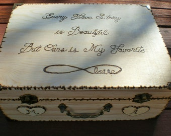 Wedding  card Box, Personalized Box,Shabby Chic, Rustic Wedding Box, Rustic Card Box,Crd Box