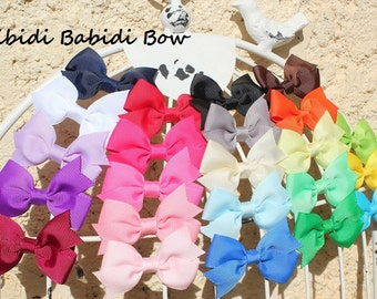 Mini hair bows - set of 8 - baby girl hair bows -  Baby shower gift - 1.00 hair bows -infant hair bows - You can choose colors