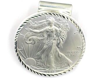 Beautiful 2014 American Eagle Silver Coin Money Clip