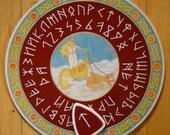 """FREE SHIPPING - Ouija board - Spiritistic board - Talking board """"Freya"""""""