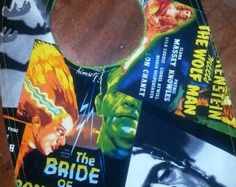 Frankenstein Baby Bib / Horror movie bib / Frankenstein's Bride baby bib