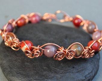 Twisted Vine Wire Wrapped Bracelet Tutorial, Pattern. PDF