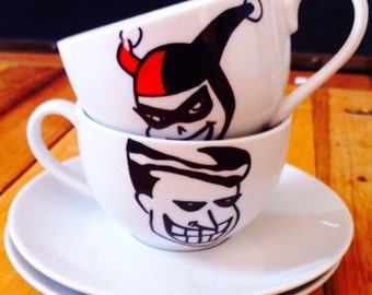 Joker and Harley Quinn (Batman) Tea Cups