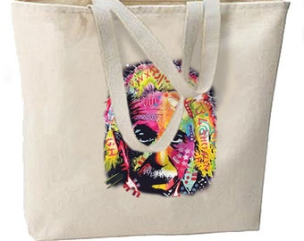 Albert Einstein Pop Art New Large Tote Bag Neon Cool Gifts Shop Events