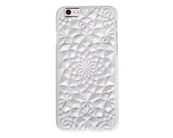 White Geometric Kaleidoscope Case for iPhone 6/6s White iPhone 6 and iPhone 6s Case (6KS-GW)