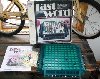 Last Word Game -  Retro 80's Board Game - Complete 1985 Vintage Party Game, Milton Bradley