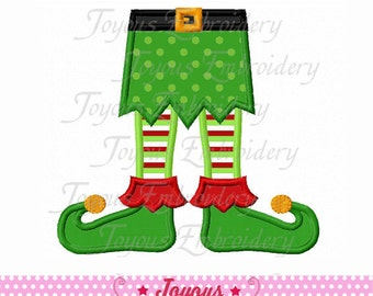 Instant Download Christmas Elf Feet  Embroidery  Applique Design NO:1620