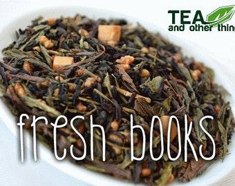 50g Fresh Books - Loose Green+Black Tea -