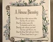 House Blessing Plaque Sign Warming Trivet Gift Ceramic Tile