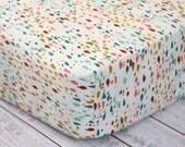 Fitted Crib Sheet, Cream Modern Crib Sheet