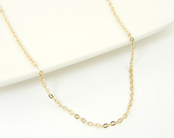 Small Link Gold Plated Chain 18 inch to 20 inch with extender Oval Links |CH3-1|1