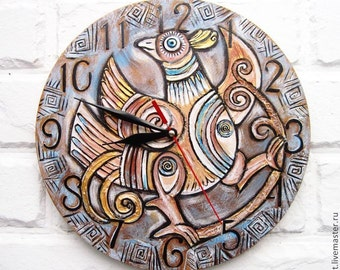 The Ethnic Bird Wall Clock,  Home Decor for Children