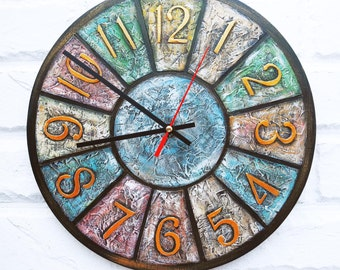 The Shabby Chic Colored  Wall Clock, Home Decor