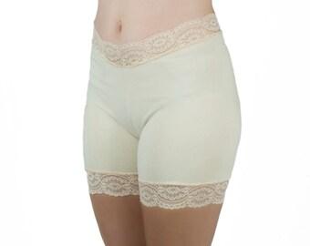 Light Beige Lace Shorts Nude Underwear