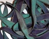 "Galaxy 42"" hand dyed silk wrist wrap bracelet  ribbon//Yoga wrist wrap bracelet ribbons//Silk wrist wrap ribbon// By Color Kissed Silk"