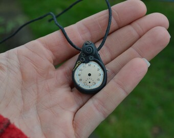 Beautiful Steampunk Pendant,  Set Uniquely and Beautifully using old watch parts....Steampunk, Gyspy, Funk, Psy, Unusual, Festival, Punk