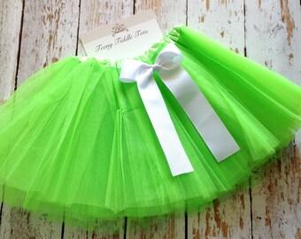 Lime Green TuTu, Baby TuTu with matching bow, Toddler Tu Tu, Ballerina Tu Tu, Baby Tu Tus, Tutus, Baby Tutus