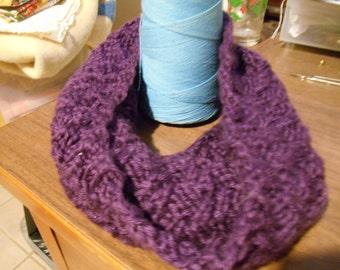 Purple Cowl or Mini Infinity Scarf